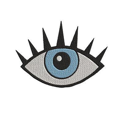 Blue Eye, Eyeball, Evil Eye Hamsa Iron-On/Sew-On Embroidered Patch, Applique