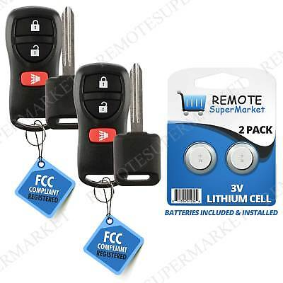 Replacement for 2002-2004 Nissan Frontier Pathfinder Remote Car Key Fob Set Pair (2004 Nissan Pathfinder Replacement)