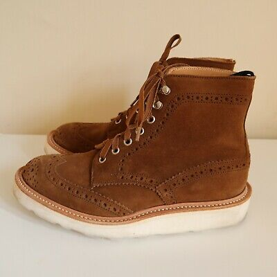 Tricker's x END Stow Boot - Vibram - Snuff Repello Suede - Size UK 6 / US 7
