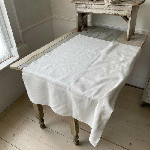 LARGE Antique French linen dishtowel  kitchen towel  monogram The Textile Trunk