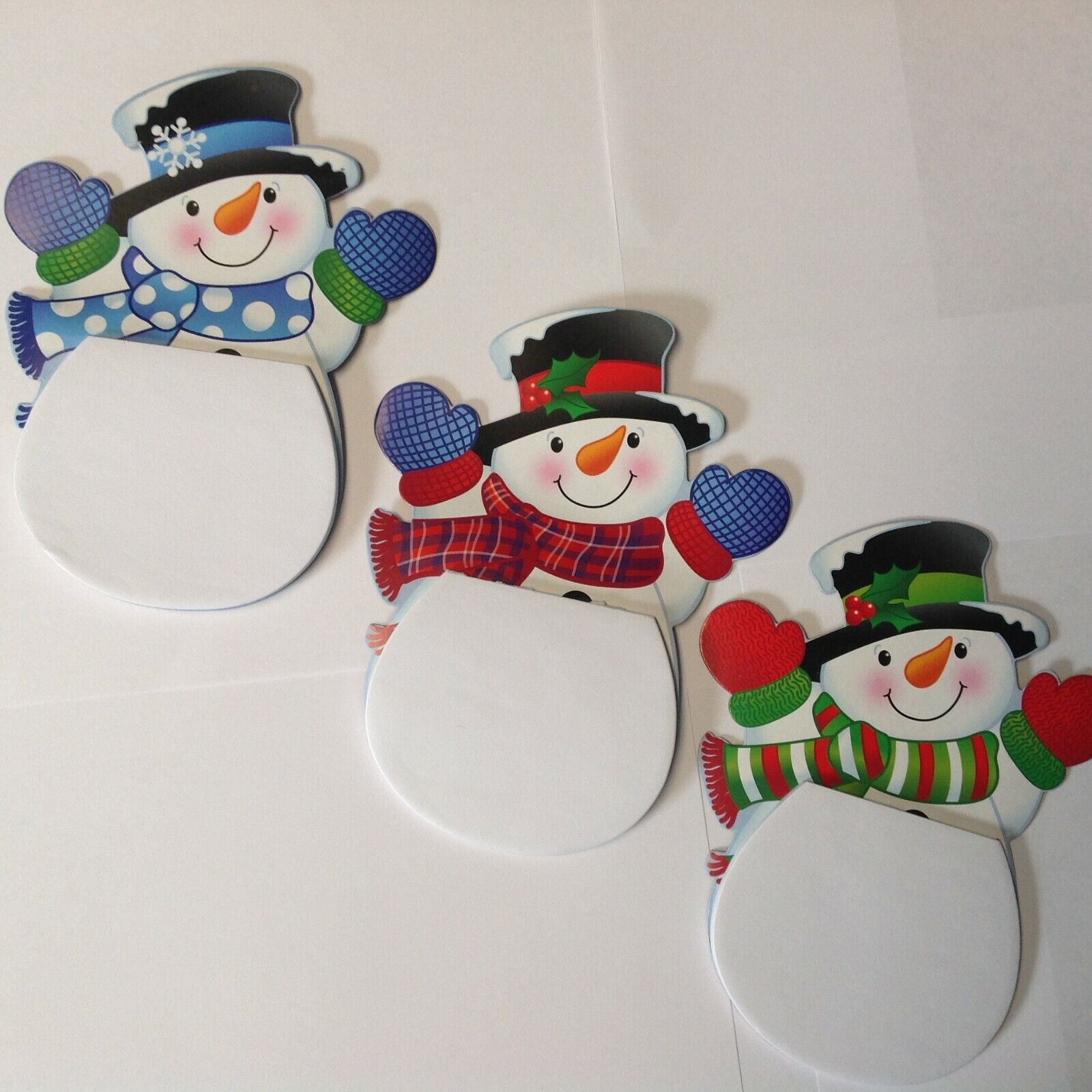 Smiling Snowmen Notepads Birthday Party Favors  FREE SHIPPIN