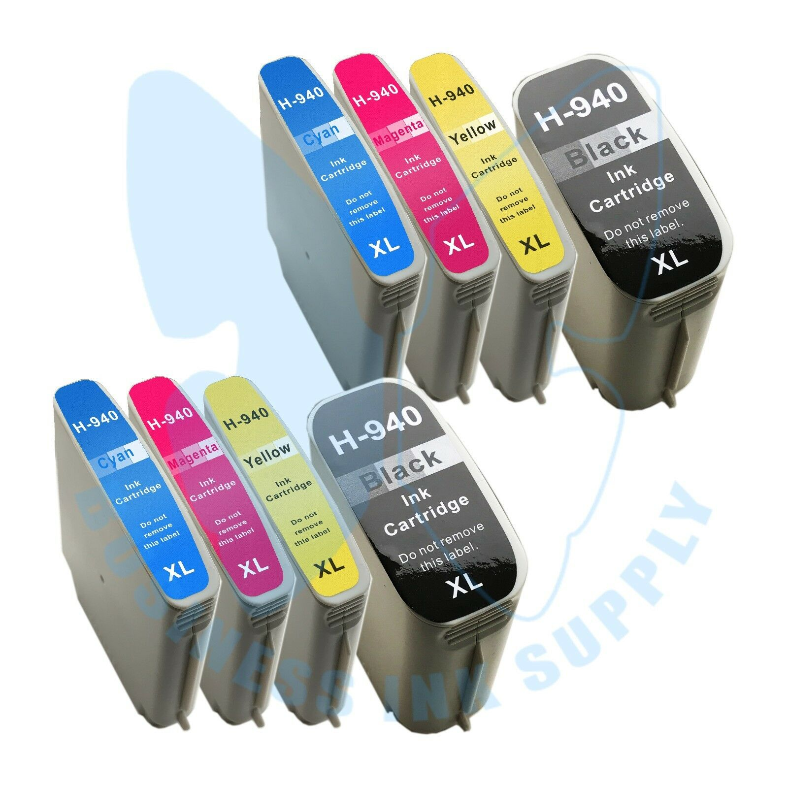 8 Pack 940xl 940 Ink Cartridges For Hp Officejet Pro 8000...