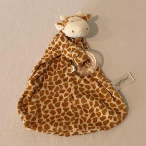 Angel Dear Giraffe Security Blanket Lovey Blanky Blankie Brown Baby Toy
