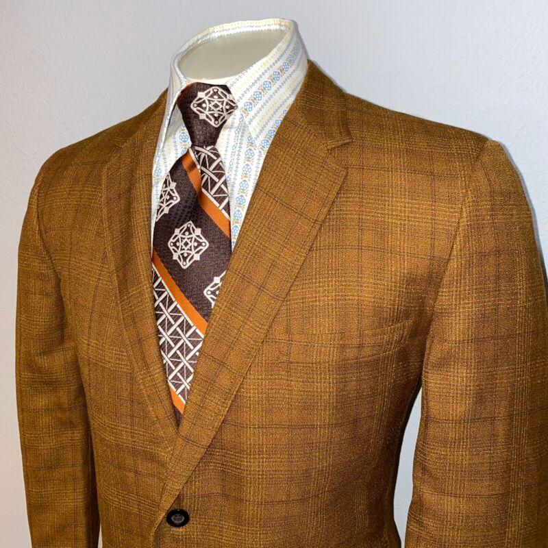 Vtg 50s 60s CLUBMAN Suit Jacket Blazer coat Mid Century Rat Pack MENS 42 Short