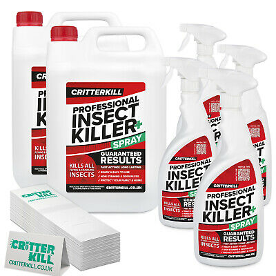 PROFESSIONAL INSECTICIDE KILLER KIT | TREATMENT SPRAY & INSECT TRAPS | ALL PESTS