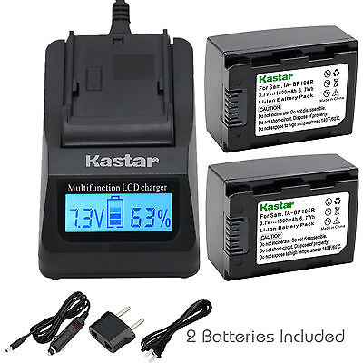 Kastar Charger Battery For Samsung Ia Bp105r Hmx F80 Hmx F90 Hmx F800 Hmx F900