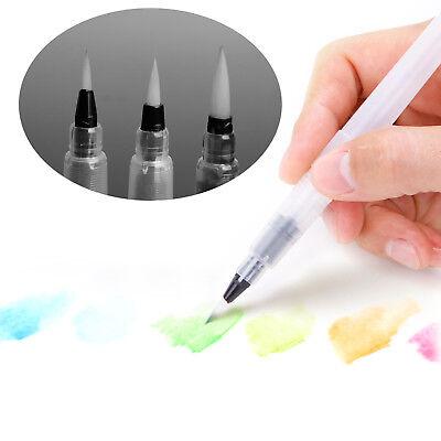 Aquarell Pinsel (3x Pinselstift Wassertank-Pinsel für Aquarellfarben Aquarellstifte Tusche)
