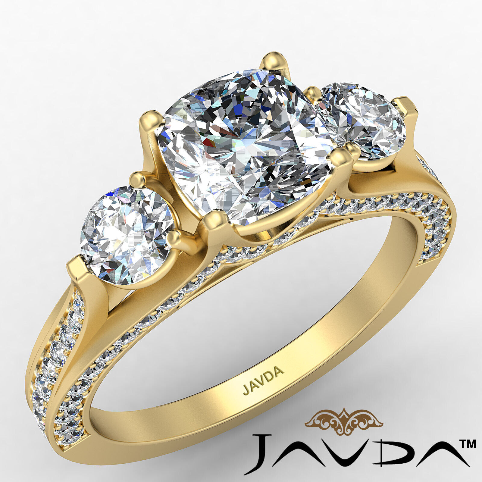 Cushion Diamond Engagement Ring Certified by GIA E Color & VVS1 clarity 2.1 ctw 1