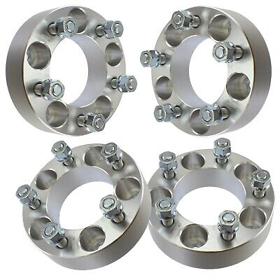 """4 pcs 1.5"""" inch (38mm) 5x114.3 Wheel Spacers for Chrysler Dodge 14x1.5 Studs"""