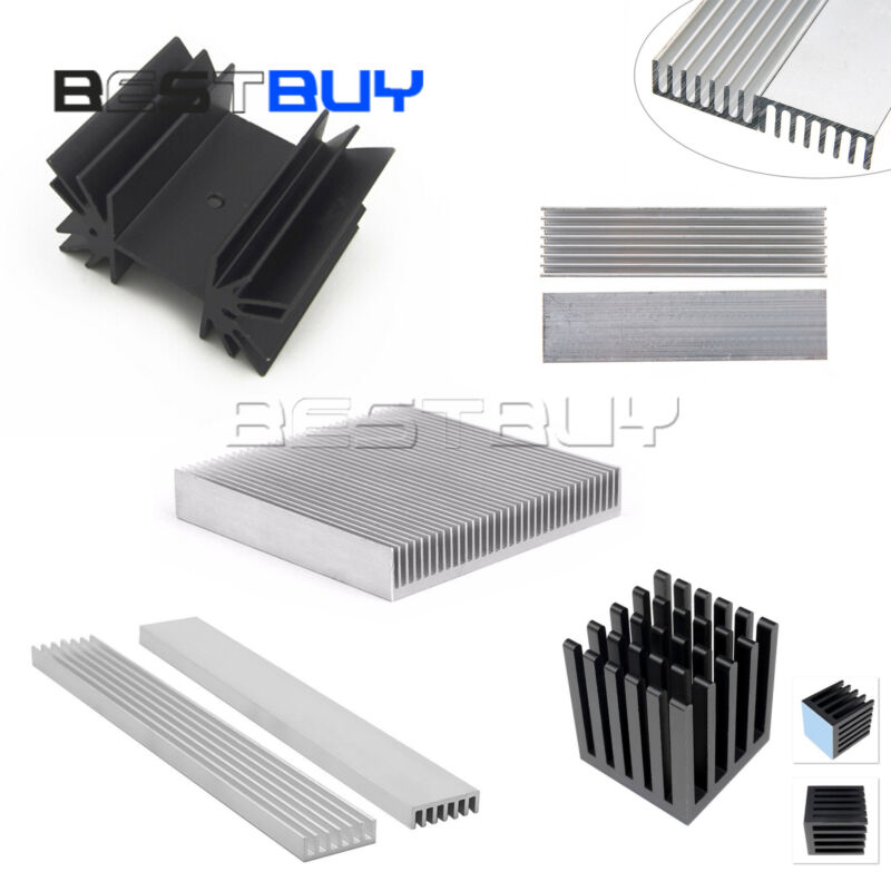 Aluminum Heatsink Cooling for High LED Power Memory Chip IC Transistor BBC