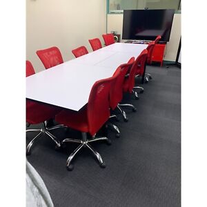 10 red office chairs mesh fabric gas lift Dickson North Canberra Preview
