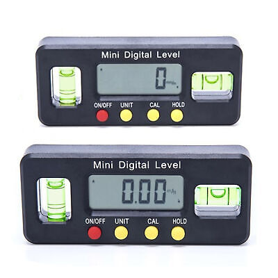 490 Digital Inclinometer Level Box Protractor Angle Finder Bevel Gauge Magnet