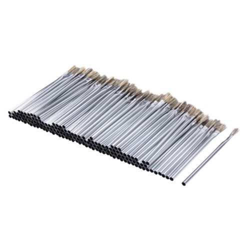 Steel Core 144 pc Horsehair Bristle Acid Shop Brushes, 3/8 in X 6-1/8 in