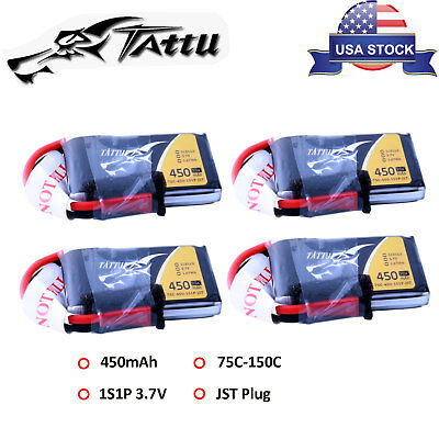 4Give up Tattu 3.7V 450mAh 75C 1S Lipo Battery For Small-size FPV Quadcopter Heli