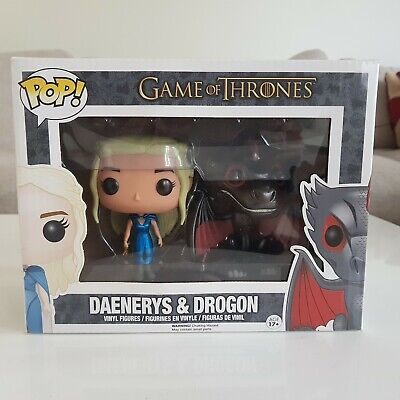 Vinyl 2-Pack Funko Game of Thrones Daenerys /& Drogon US Exclusive Pop