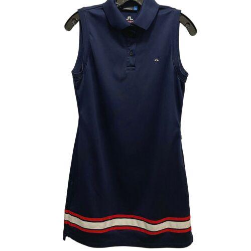 J. Lindeberg Kristin Fieldsensore 2.0 Golf Dress Large, Sleeveless, Pocket, Blue