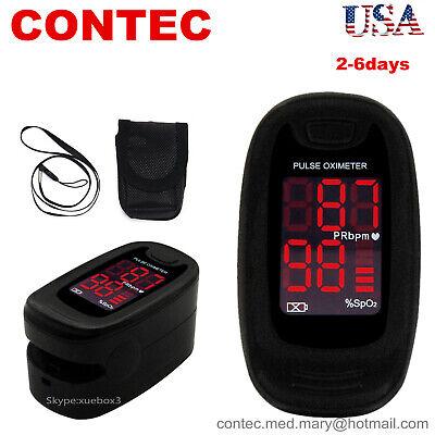 Finger Pulse Oximeter Heart Rate Blood Oxygen Saturation Monitor Spo2 Pr Measure