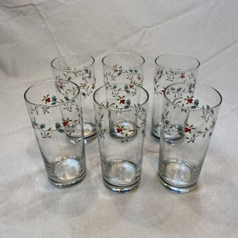 Holiday Drinking Glasses/ Berry