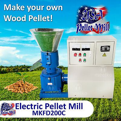 Electric Pellet Mill And Feed Mixer - Mkfd200c Mkmh150- Usa