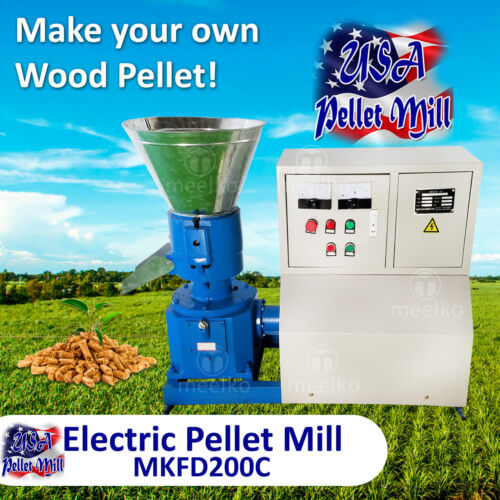 Electric Pellet Mill For sawdust.- MKFD200C - USA