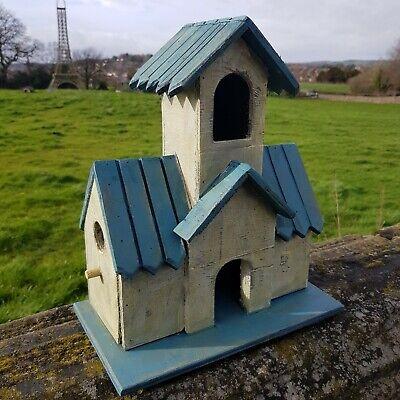 Vintage Wooden Birdhouses Nesting Box Garden Ornament outdoor feature wildlife