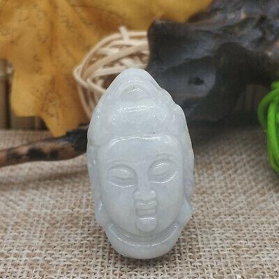 China master Hand carved Buddha statue Hetian jade Seed stone Q02