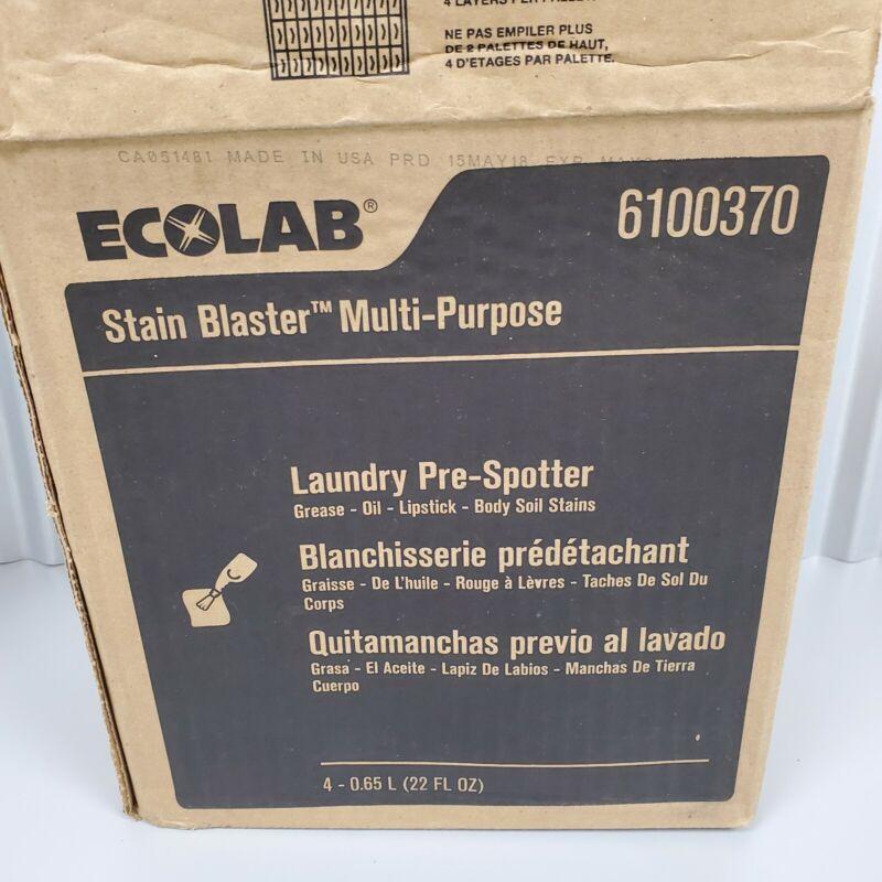 Ecolab Stain Blaster Multi-Purpose 6100370 x4 22 fl oz Bottles New