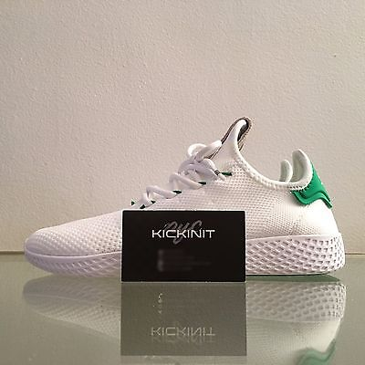 Pharrell Williams X Adidas Mens Tennis Hu  White Green    Ba7828   5   13