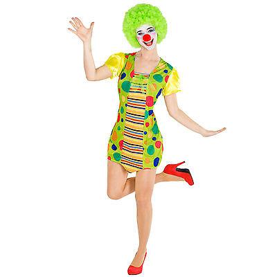 Frauenkostüm Clown Clownfrau Clownkostüm Harlekin Fasching Karneval Kostüm