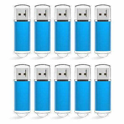 20 Pack Blue 1GB 2GB 4GB 8GB 16GB 32GB 64GB USB 2.0 Flash Drives Memory Storage (2 Gb Blue Usb)