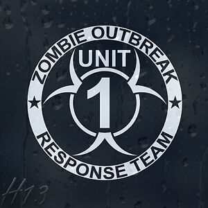 Zombie-Outbreak-Response-Team-Unit-1-Car-Decal-Vinyl-Sticker-For-Window-Bumper