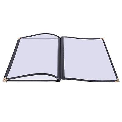 30pcs Restaurant Menu Cover 8.5x14 3 Page 6 View Cafe Club Black Trim Fold Book