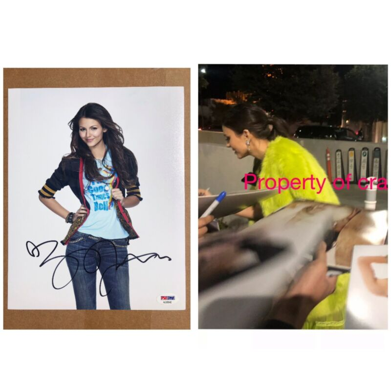Victoria Justice Signed 8x10 Photo Zoey 101 Victorious Autograph Proof PSA COA