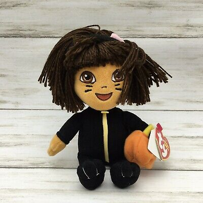 Ty Beanie Babies Halloween  Dora The Explorer Pumpkin Baby Plush - Dora Halloween Pumpkin