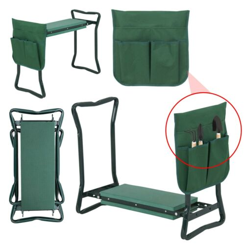 Garden Kneeler Seat w/EVA Folding Portable Bench Kneeling Pa