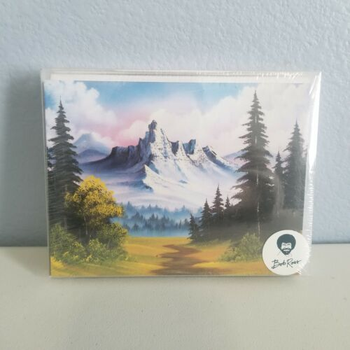 Bob Ross Notecards by Ross, Bob 10 Cards And Envelopes Stationery Set Nature Art
