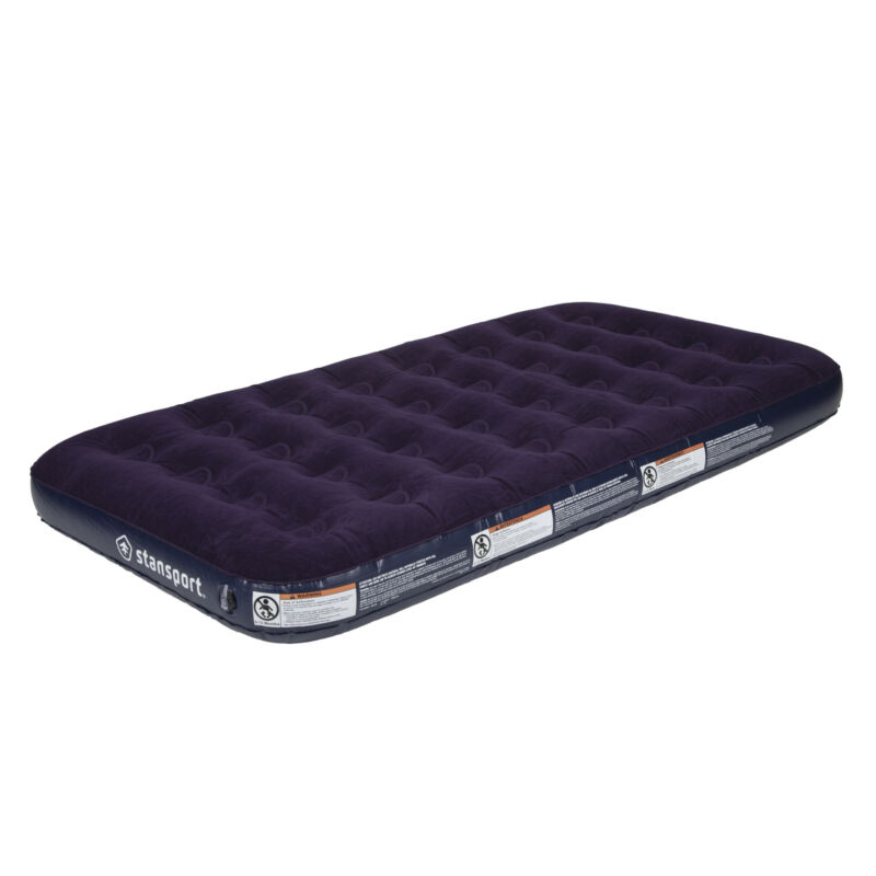 STANSPORT TWIN SIZE INFLATABLE AIR BED MATTRESS SLEEPING CAMPING OUTDOOR NEW