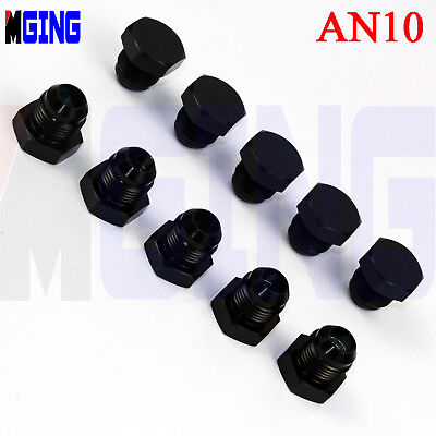 10x Adapter Fuel Hose Tank Fitting Adaptor Male -10 AN10 10-AN AN-10 to One NPT