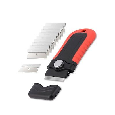 Gomake Locking Razor Blade Scraper with Safety Cap, Plastic Scraper with 10PC...