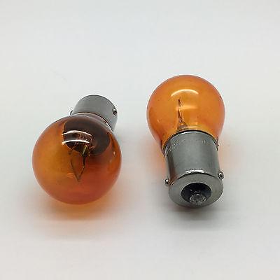 2 x 581 PY21W BAU15S Amber Front  Rear Indicator Signal Car Light Bulb 12v 21w