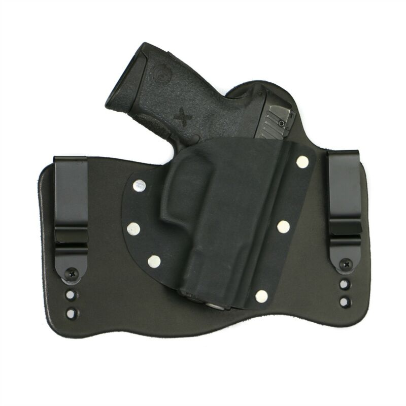 FoxX Leather & Kydex IWB Hybrid Holster Taurus Millenium G2 PT111, PT140 Black