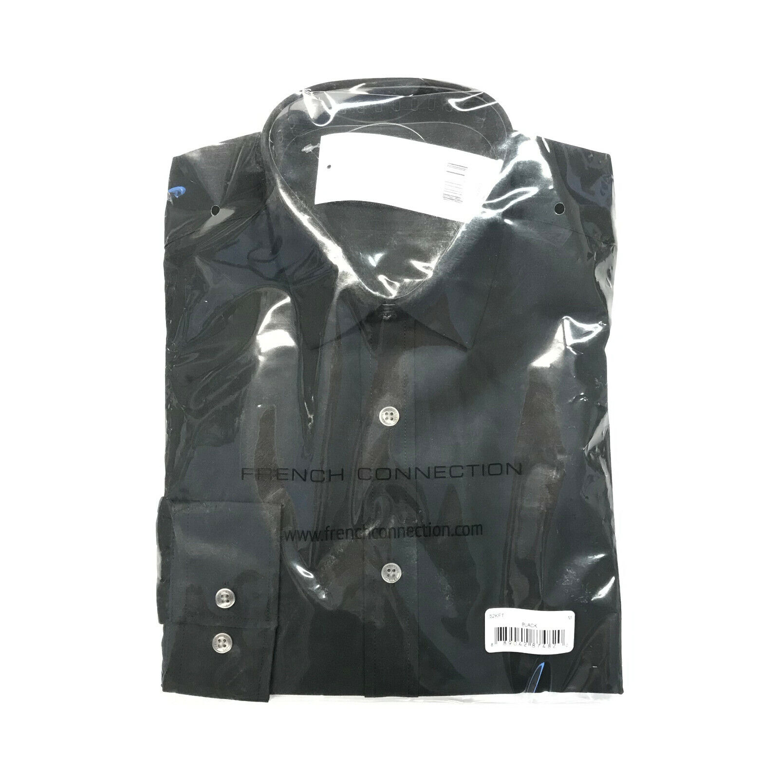 4a70187d0e1 Details about French Connection FCUK 52KFT Black Medium Long Sleeve Oxford  Shirt New In Packet