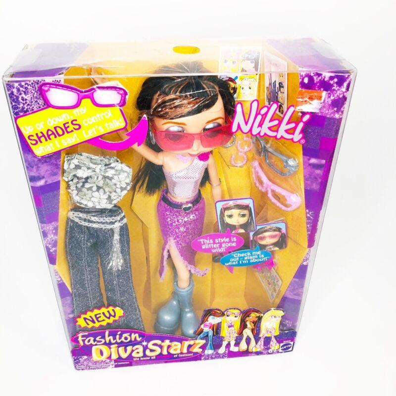 "Brand New Diva Starz 11"" Nikki Talking Interactive Doll B3010 Mattel 2003 Shades"