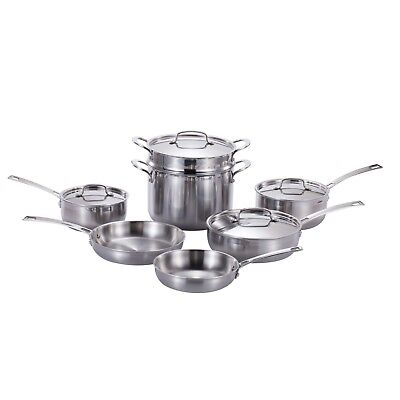 Momscook Pro Tri-Ply Clad 11-Piece Cookware Cookware Kitchenware Set Tri Ply Set