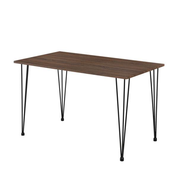 """[en.casa] Esstisch """"Hairpin"""" 120x70cm Küchentisch Esszimmertisch Tisch Nussbaum"""