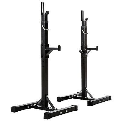 Soporte Barra Pesas Haltera Base Regulable Gimnasio Musculación 100kg Deporte