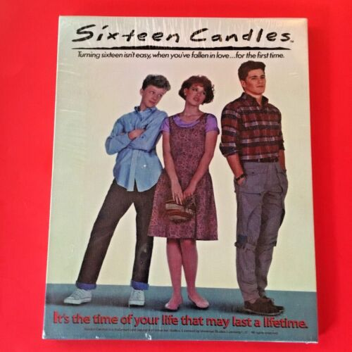 vintage SIXTEEN CANDLES film poster CANVAS  wood frame 8x10--MOLLY RINGWALD--NEW