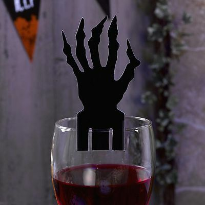Zombie Glas (Scary Halloween Glas-Platzkarte 10 St - Grusel Zombie Halloween Party Platzkarte)