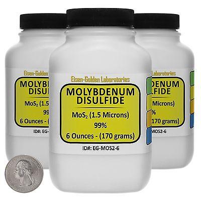Molybdenum Disulfide Mos2 99 Ar Grade Powder 1 Lb In Three Bottles Usa