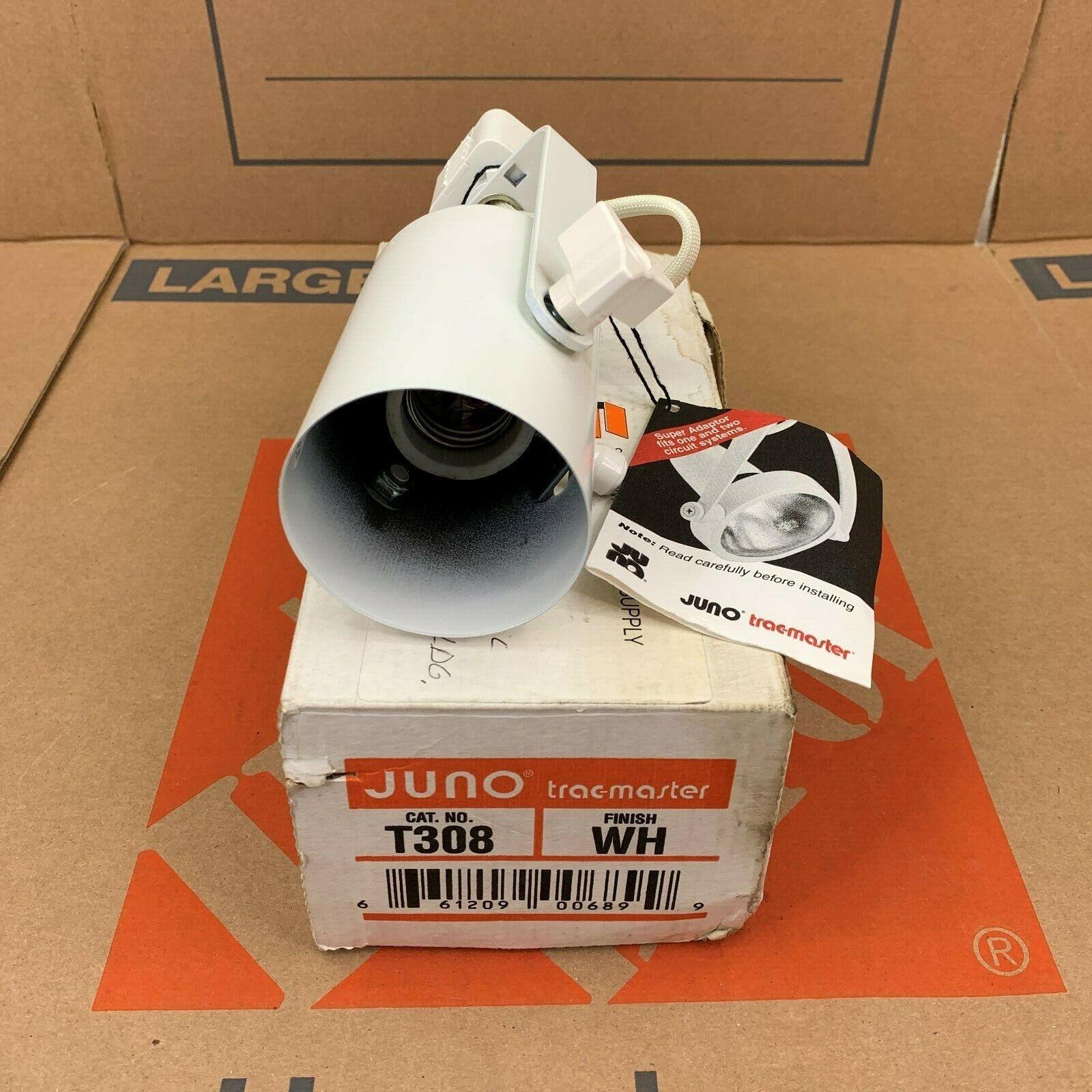 JUNO TRAC-MASTER TRACK LIGHT FIXTURE T308 WH PAR 38 WHITE  - $20.95